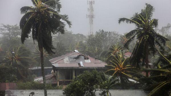 El huracán Eta a su llegada a Bilwi, Nicaragua - Sputnik Mundo
