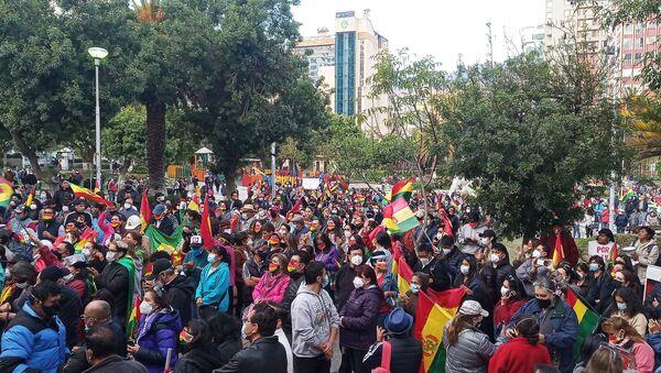 Protesta en Plaza Avaroa de La Paz - Sputnik Mundo