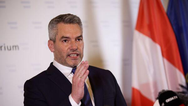 Karl Nehammer, el ministro del Interior de Austria - Sputnik Mundo