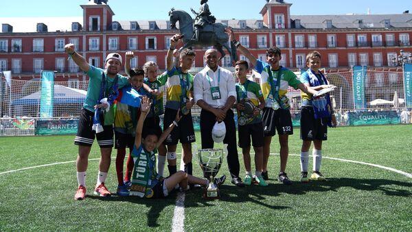 Un equipo de fútbol en el marco del Programa Social Internacional infantil de Gazprom PAO 'Fútbol por la Amistad' (archivo) - Sputnik Mundo