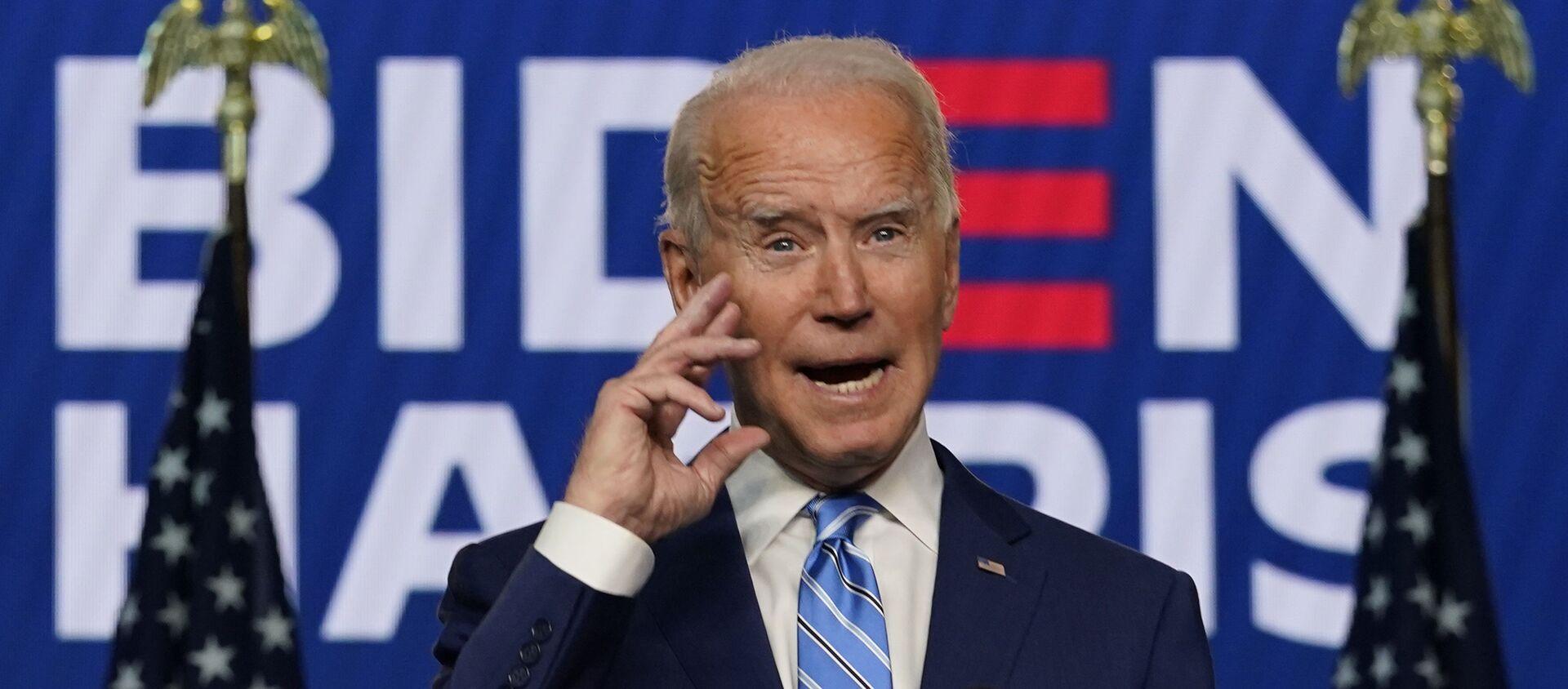 Joe Biden, presidente electo de Estados Unidos - Sputnik Mundo, 1920, 05.11.2020