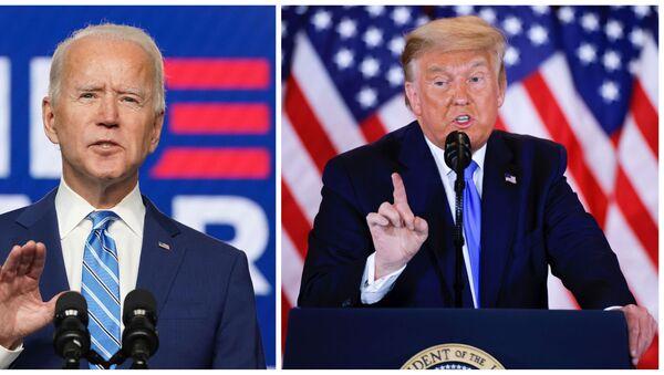 Joe Biden, candidato presidencial demócrata, y Donald Trump, presidente de EEUU - Sputnik Mundo