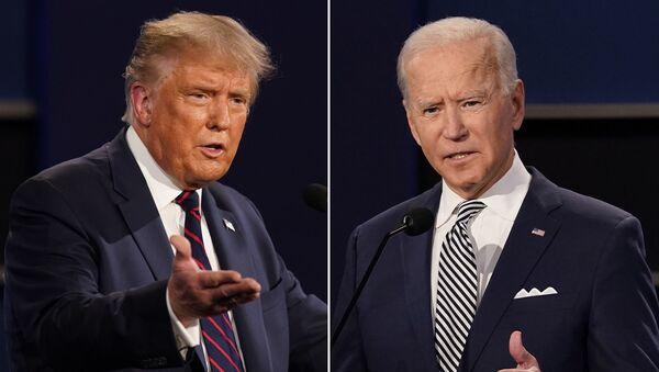 Donald Trump, presidente de EEUU, y Joe Biden, candidato a la Presidencia en el país - Sputnik Mundo