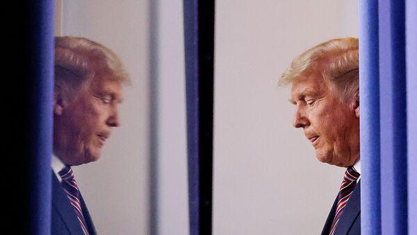 El presidente de EEUU, Donald Trump, en la Casa Blanca, Washinton, EEUU, el 5 de noviembre. - Sputnik Mundo