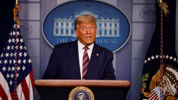 Donald Trump comparece sobre las elecciones en la Casa Blanca - Sputnik Mundo