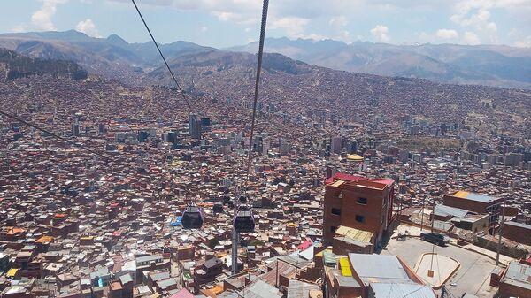 Vista de la ciudad de La Paz bajando desde El Alto - Sputnik Mundo