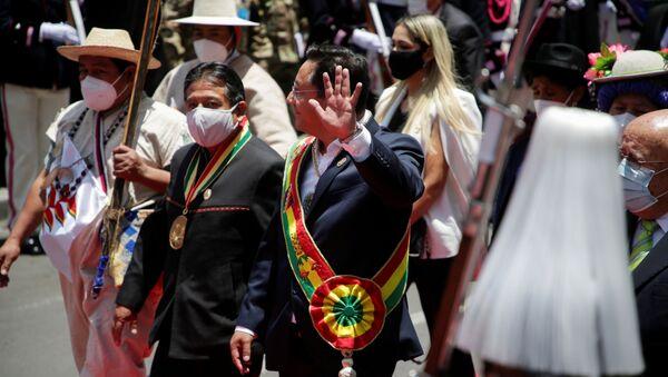 El presidente electo de Bolivia, Luis Arce, con el vicepresidente electo, David Choquehuanca - Sputnik Mundo