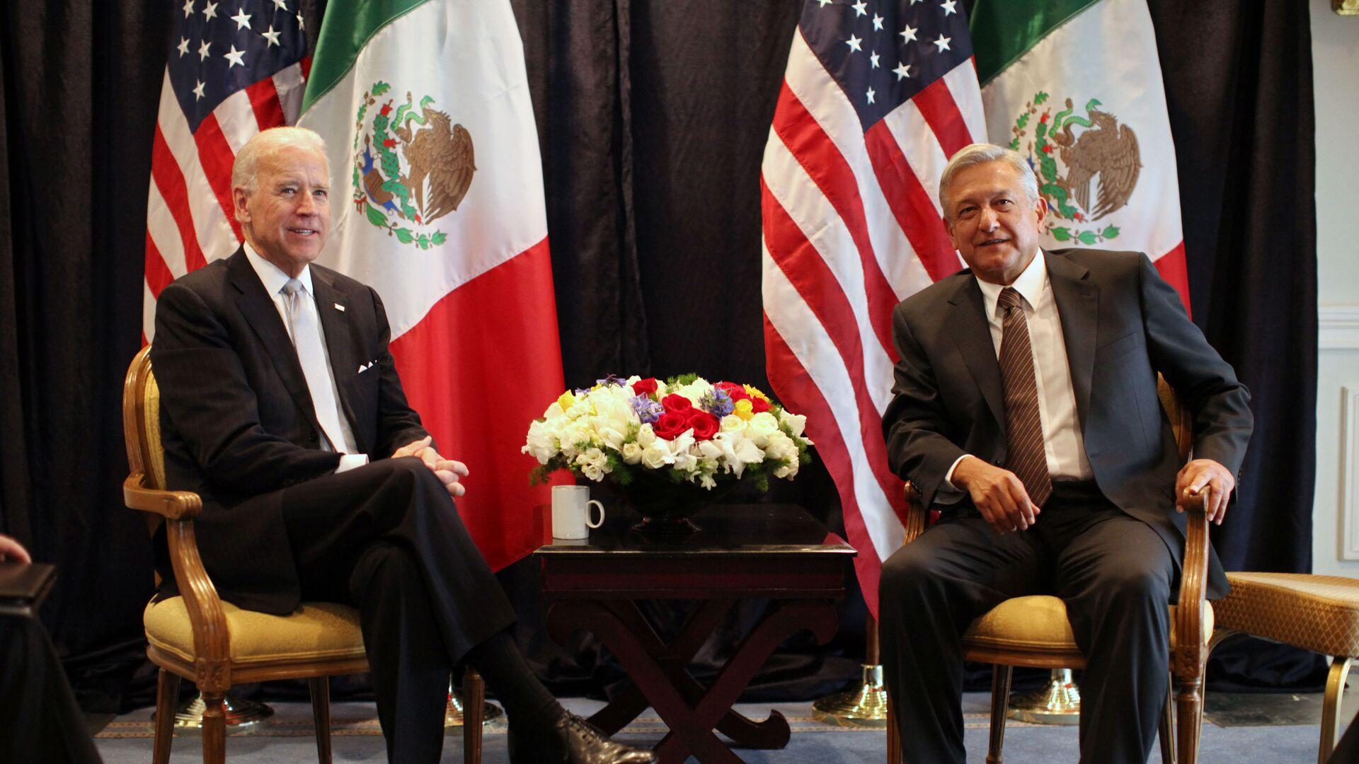 Joe Biden y Andrés Manuel López Obrador, 2012 - Sputnik Mundo, 1920, 20.05.2021