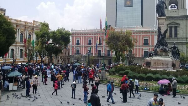 El Palacio de Gobierno de Bolivia - Sputnik Mundo