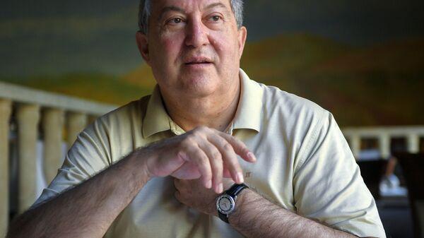 Armén Sarkisián, el presidente de Armenia - Sputnik Mundo
