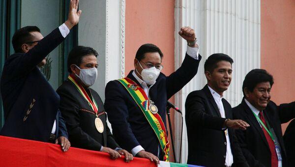 Luis Arce, el presidente de Bolivia, en la Paz - Sputnik Mundo