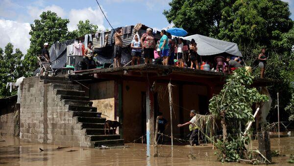 Situación en La Lima, Honduras, tras el paso del Eta - Sputnik Mundo