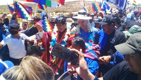 Llegada de Evo Morales a Orinoca, departamento de Oruro - Sputnik Mundo