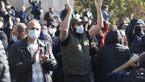 Protestas en Ereván  - Sputnik Mundo
