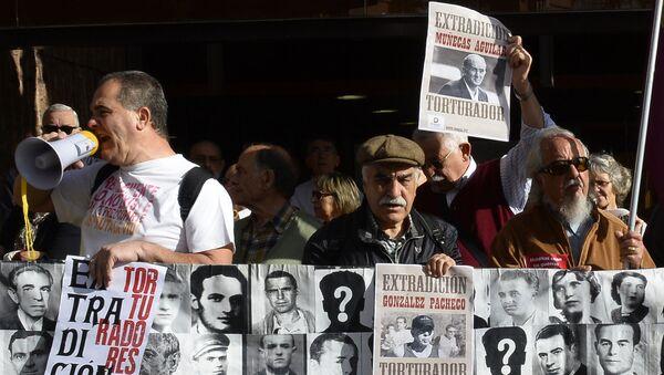 Protestas por la extradición de Juan Antonio Gonzalez Pacheco, conocido como 'Billy el Niño', en Madrid - Sputnik Mundo
