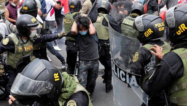 Protestas en Perú (archivo) - Sputnik Mundo