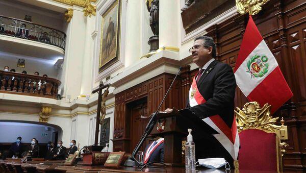 Manuel Merino, presidente interino de Perú - Sputnik Mundo