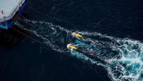 Buque de exploración sísmica en el mar argentino - Sputnik Mundo