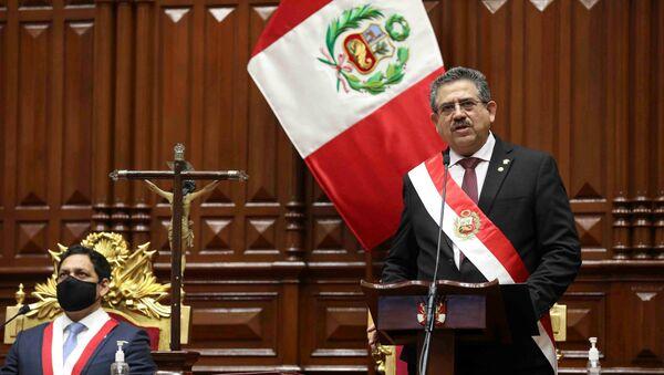 Manuel Merino, presidente de Perú - Sputnik Mundo