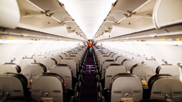 Un avión por dentro, imagen referencial - Sputnik Mundo