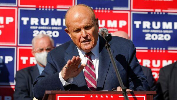 Rudy Giuliani, exalcalde de Nueva York y abogado personal de Trump - Sputnik Mundo