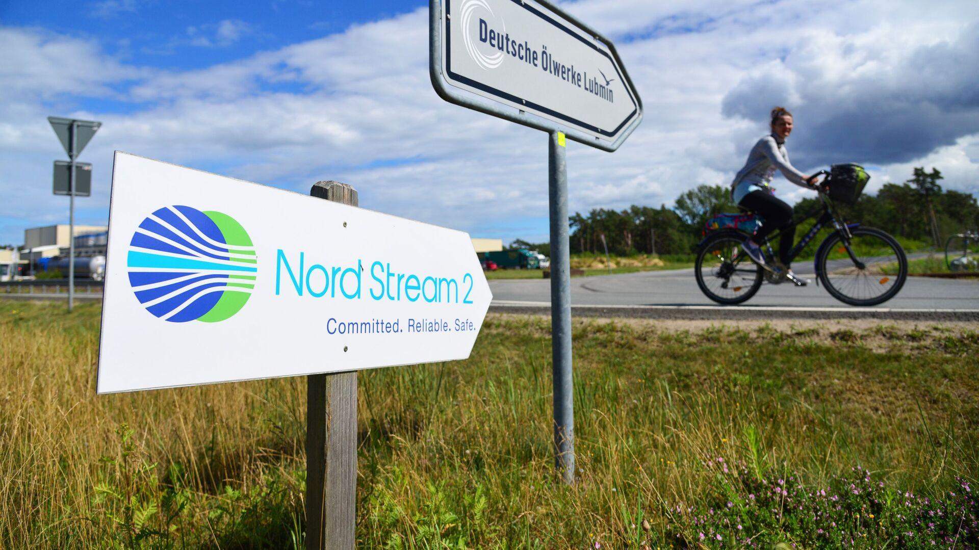 Una señal de Nord Stream 2 en Alemania - Sputnik Mundo, 1920, 23.03.2021
