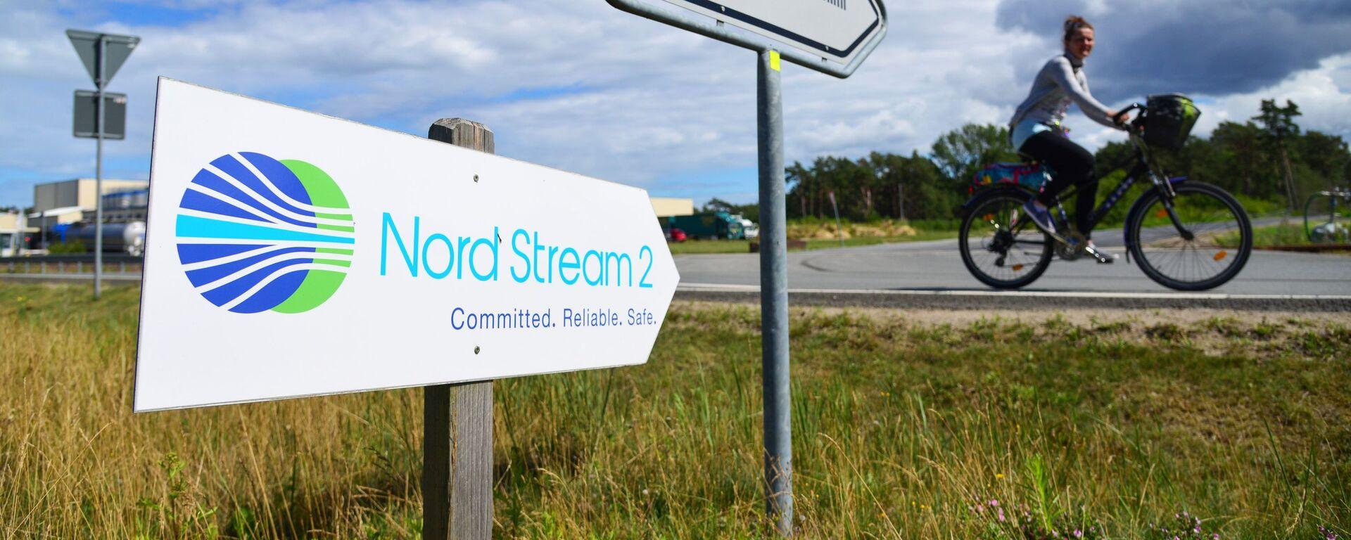 Una señal de Nord Stream 2 en Alemania - Sputnik Mundo, 1920, 21.07.2021
