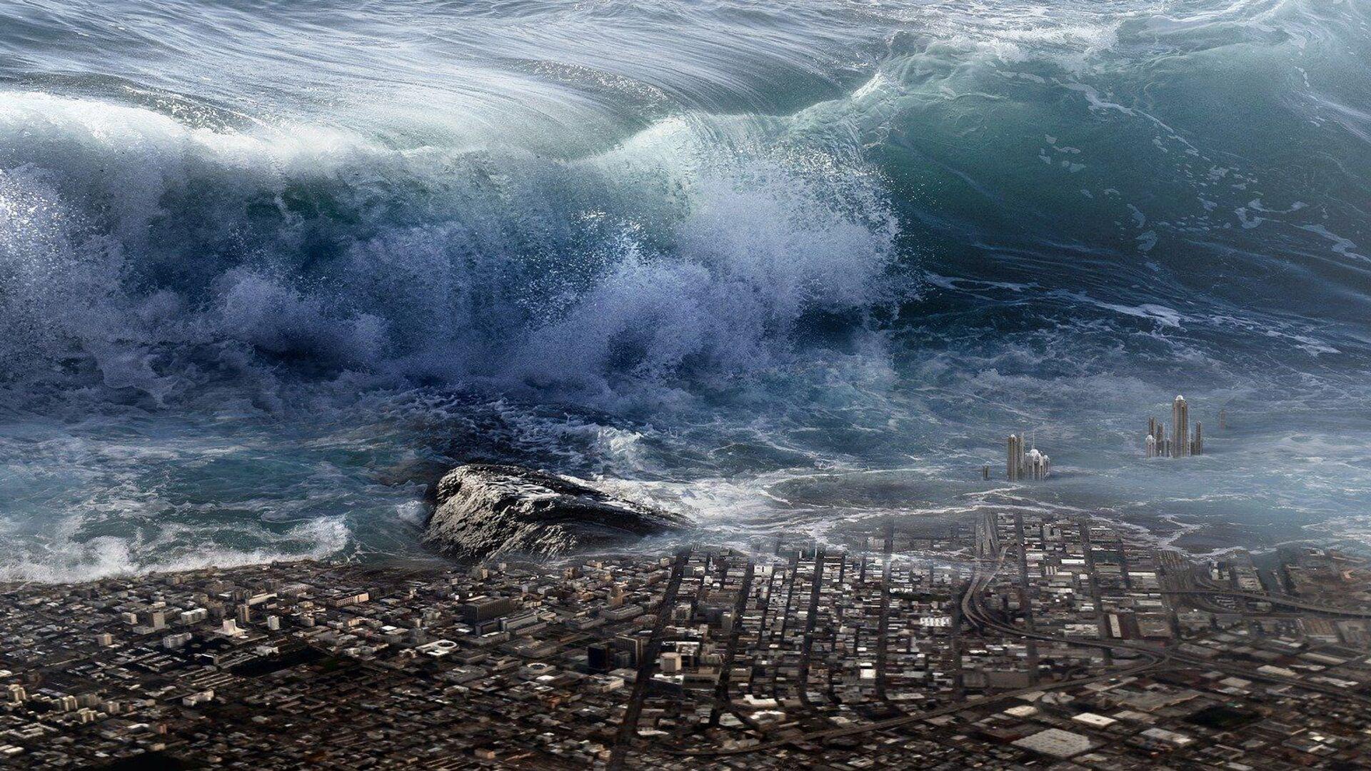 Tsunami (imagen referencial) - Sputnik Mundo, 1920, 02.08.2021