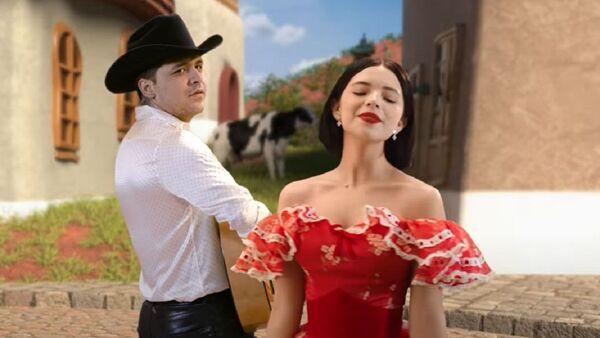 Los cantantes mexicanos, Christian Nodal y Ángela Aguilar - Sputnik Mundo