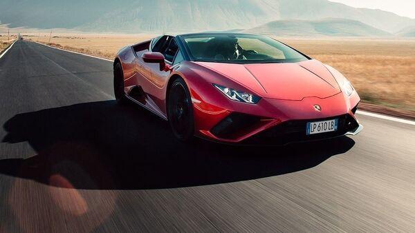 Un Lamborghini  Huracán EVO RWD Spyder (imagen referencial) - Sputnik Mundo