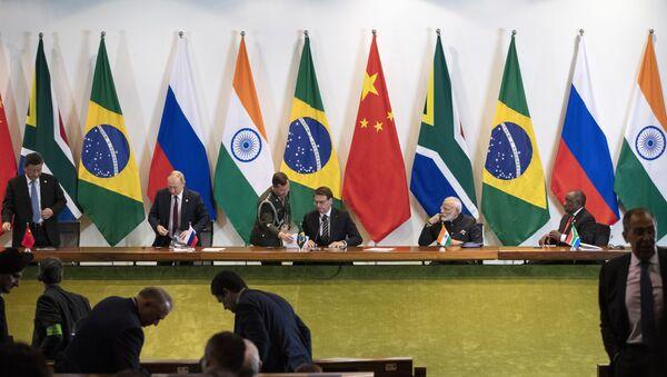 Líderes de los BRICS - Sputnik Mundo