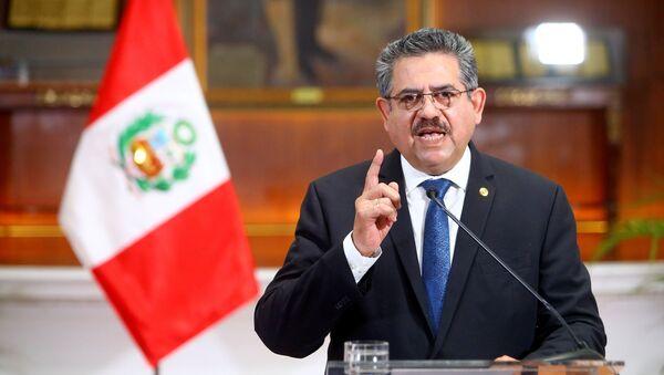 Manuel Merino, expresidente interino de Perú - Sputnik Mundo