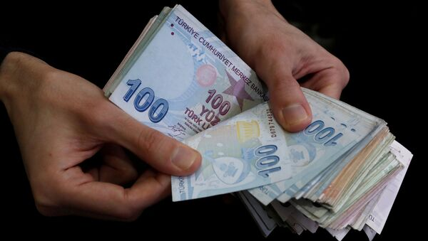 Billetes de lira turca - Sputnik Mundo