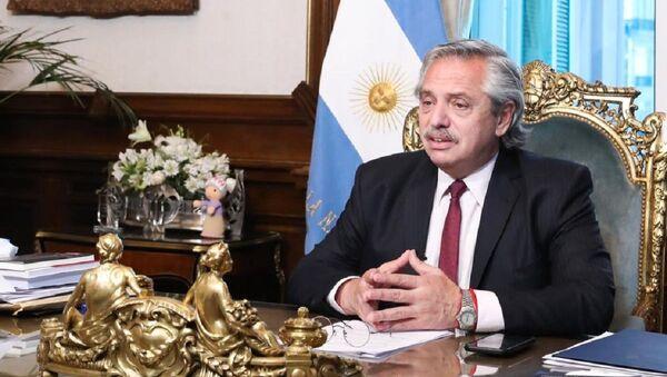 El presidente de Argentina, Alberto Fernández - Sputnik Mundo
