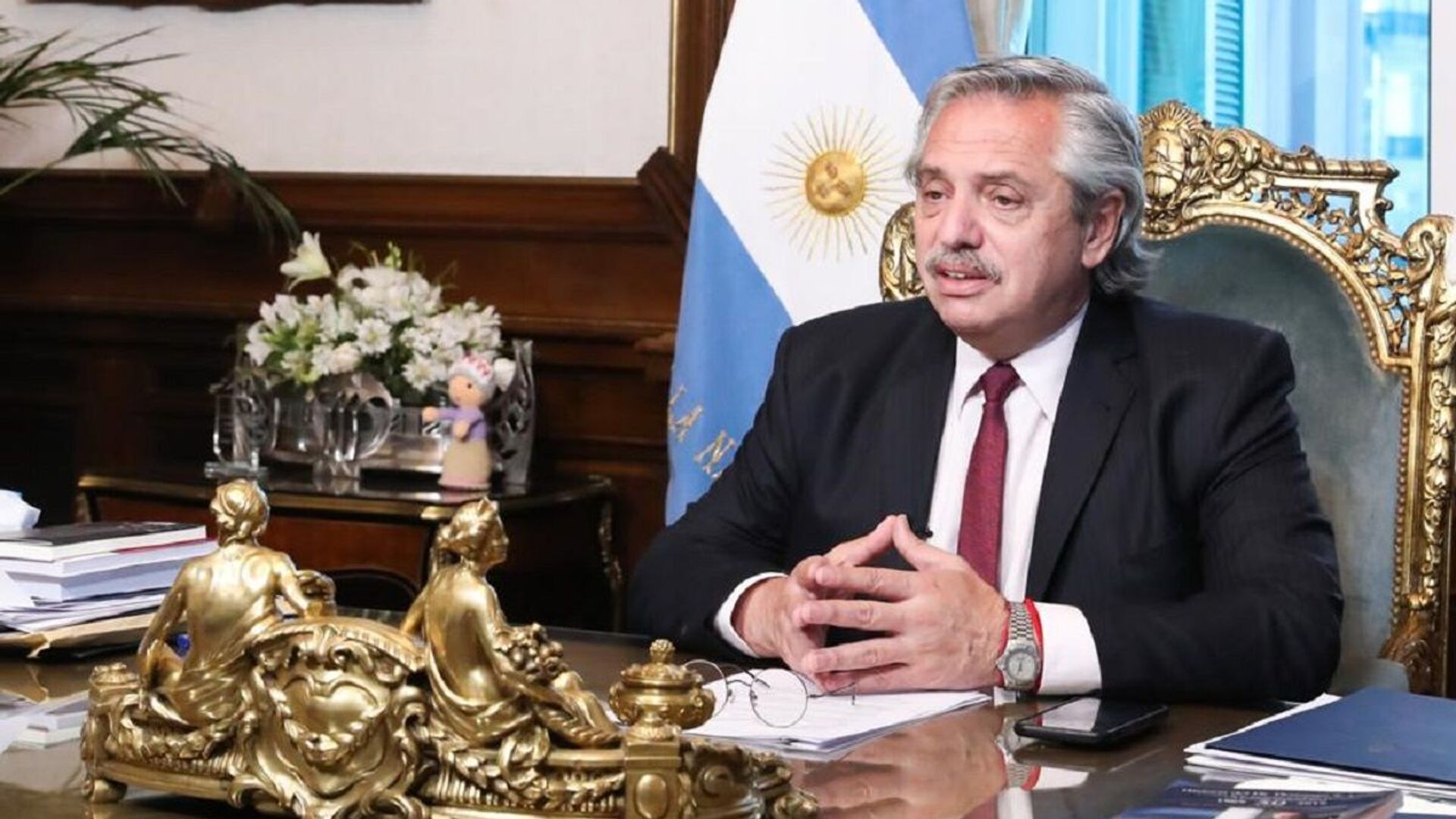 El presidente de Argentina, Alberto Fernández - Sputnik Mundo, 1920, 05.04.2021