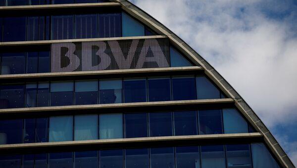 La sede del banco español BBVA en Madrid, España - Sputnik Mundo