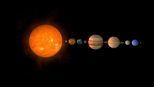 Una representación del sistema solar - Sputnik Mundo