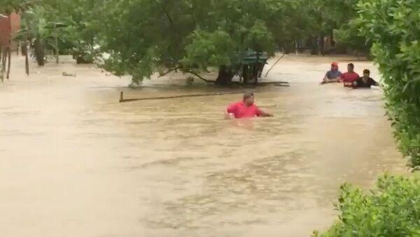 Inundaciones por el huracán Iota en Cartagena, Colombia - Sputnik Mundo