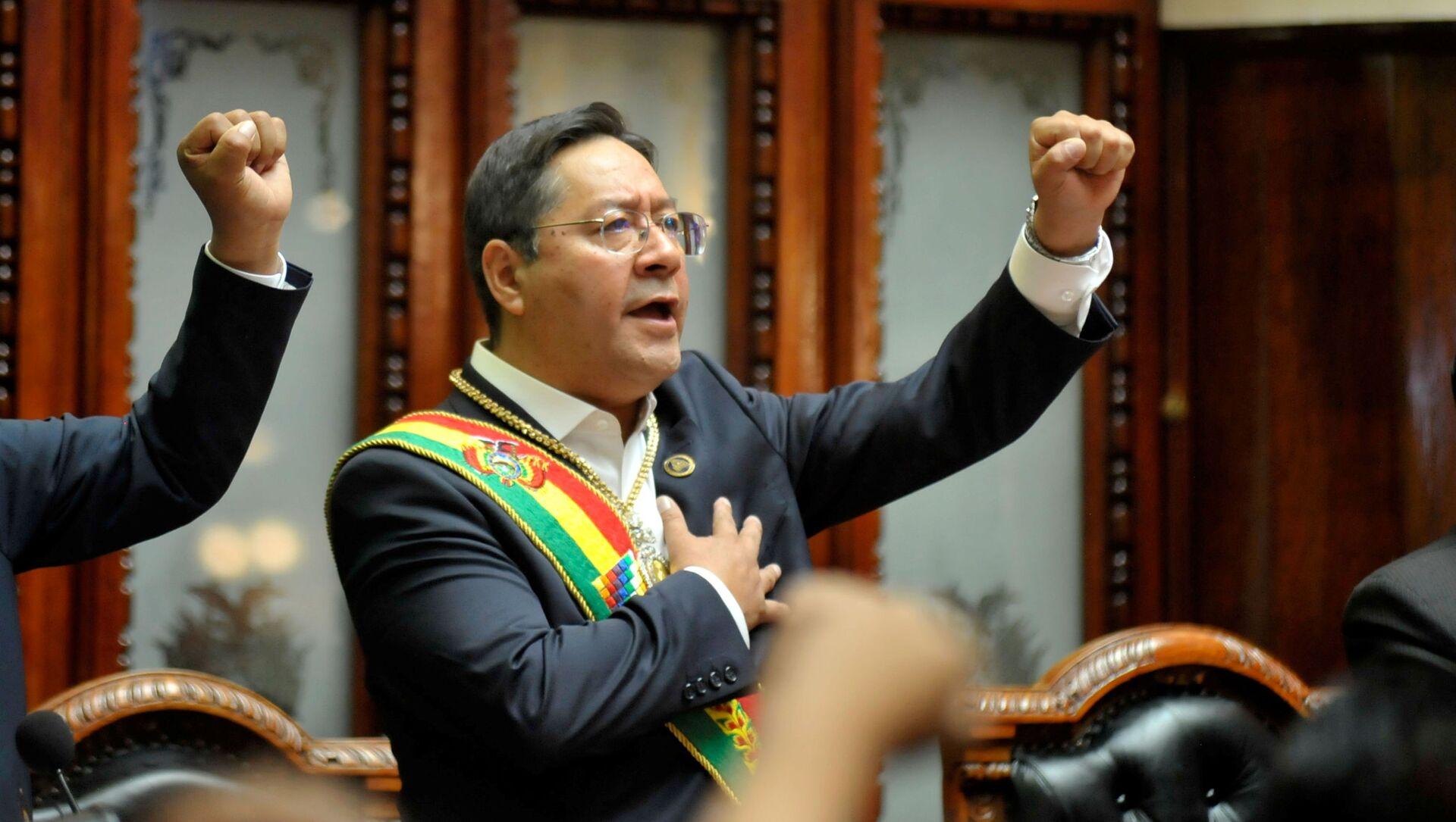 Presidente de Bolivia, Luis Arce - Sputnik Mundo, 1920, 25.11.2020