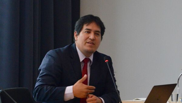 Andrés Arauz, el candidato a presidente de Ecuador - Sputnik Mundo
