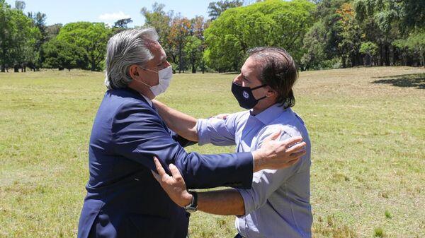 Encuentro entre los presidentes de Argentina y Uruguay, Alberto Fernández y Luis Lacalle Pou - Sputnik Mundo
