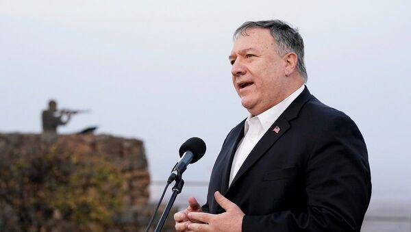 Mike Pompeo en los Altos del Golán - Sputnik Mundo