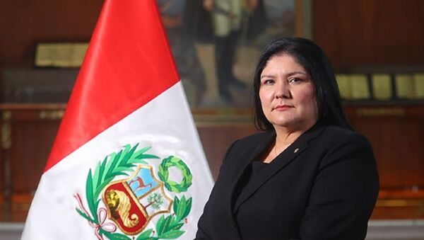 La ministra de Defensa de Perú Nuria del Rocío Esparch Fernández - Sputnik Mundo