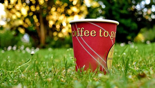 Un vaso de papel para café, referencial - Sputnik Mundo