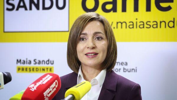 Maia Sandu, candidata proeuropea en los comicios presidenciales en Moldavia - Sputnik Mundo