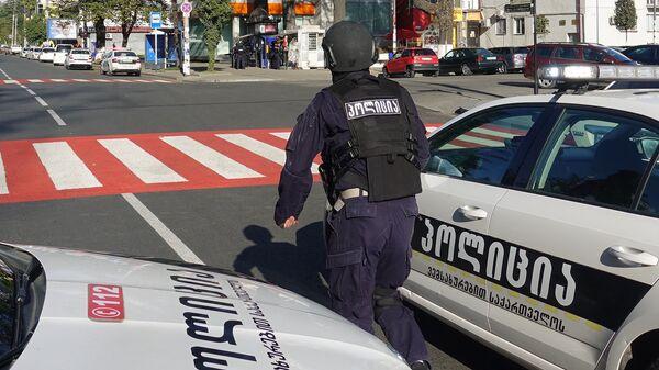 Un policía en Georgia - Sputnik Mundo