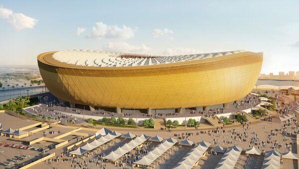Una imagen del Estadio que albergará la final de la Copa Mundial 2022 generada por computadora - Sputnik Mundo