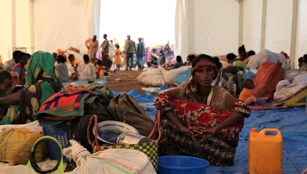 Refugiados etíopes que huien de Tigray - Sputnik Mundo