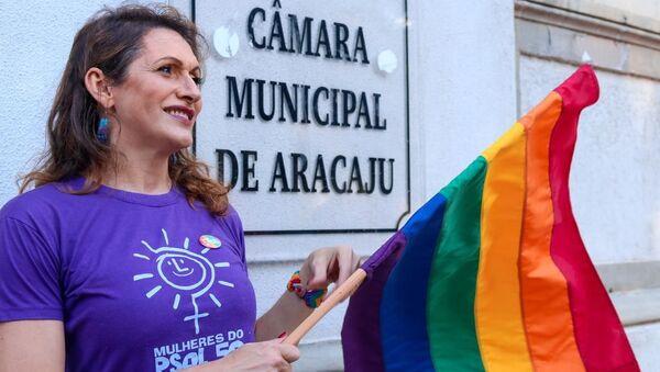 Linda Brasil, recién elegida concejala en Aracaju, capital del estado de Sergipe - Sputnik Mundo