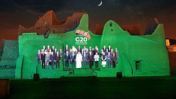 Foto grupal para la cumbre anual del G20 - Sputnik Mundo